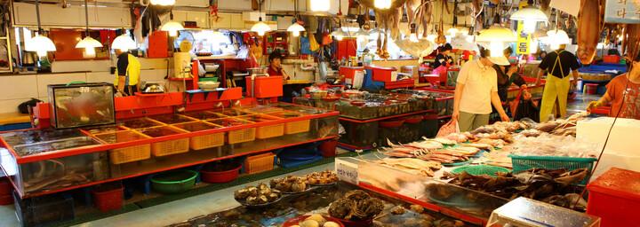 Jagalchi-Fischmarkt in Busan