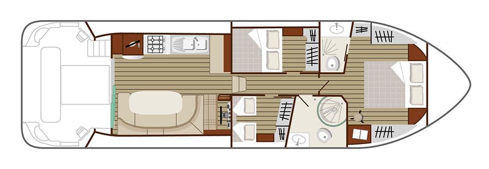 Nicols Hausboote Estivale Sixto Plan