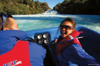 Jetboot fahren an den Huka Falls