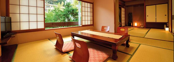 Beispiel für ein Ryokan - typisch japanisches Gästehaus