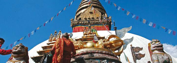 Tempelkomplex Swayambhuna in Kathmandu