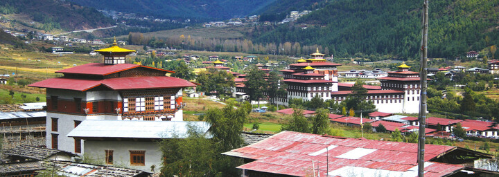 Häuser in Thimphu