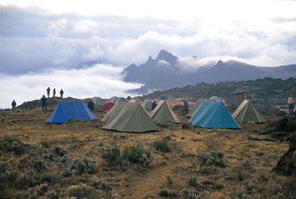 Zelte am Kilimanjaro