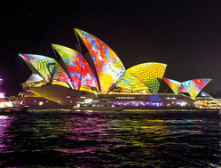 Leuchtendes Opera House am Vivid Festival