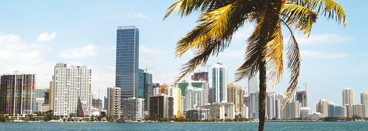 Skyline Miami vom Wasser aus