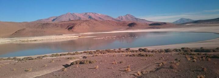 Wüstenlandschaft Salar de Uyuni in Bolivien