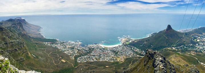Ausblick auf Kapstadt vom Tafelberg - Südafrika