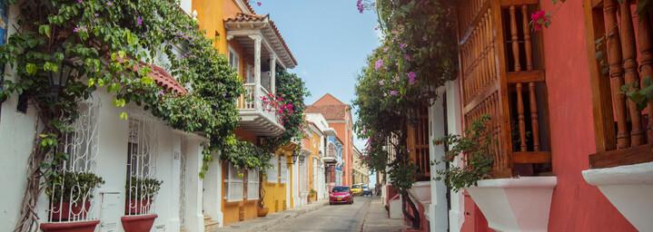 Straße in Cartagena Kolumbien