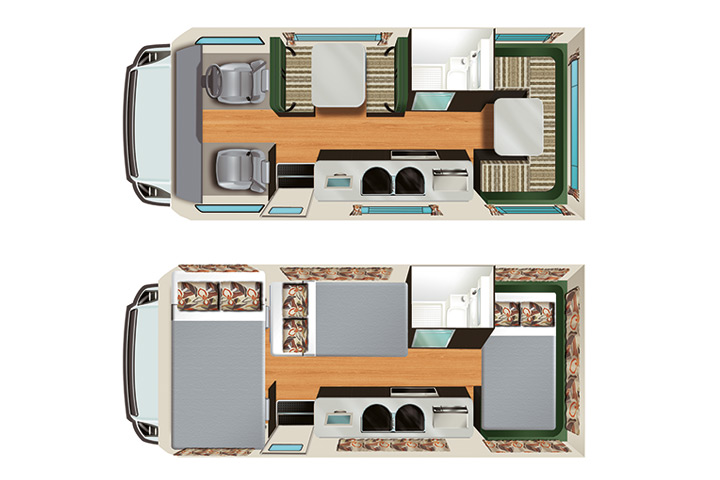 Floorplan des Apollo Euro Deluxe
