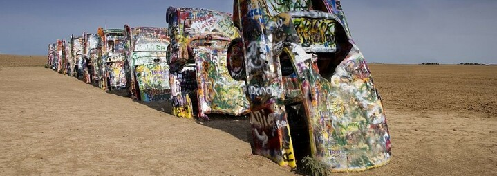 Cadillac Ranch bei Amarillo