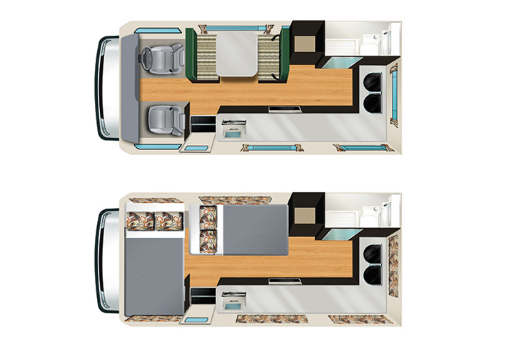 Floorplan des Apollo Euro Camper