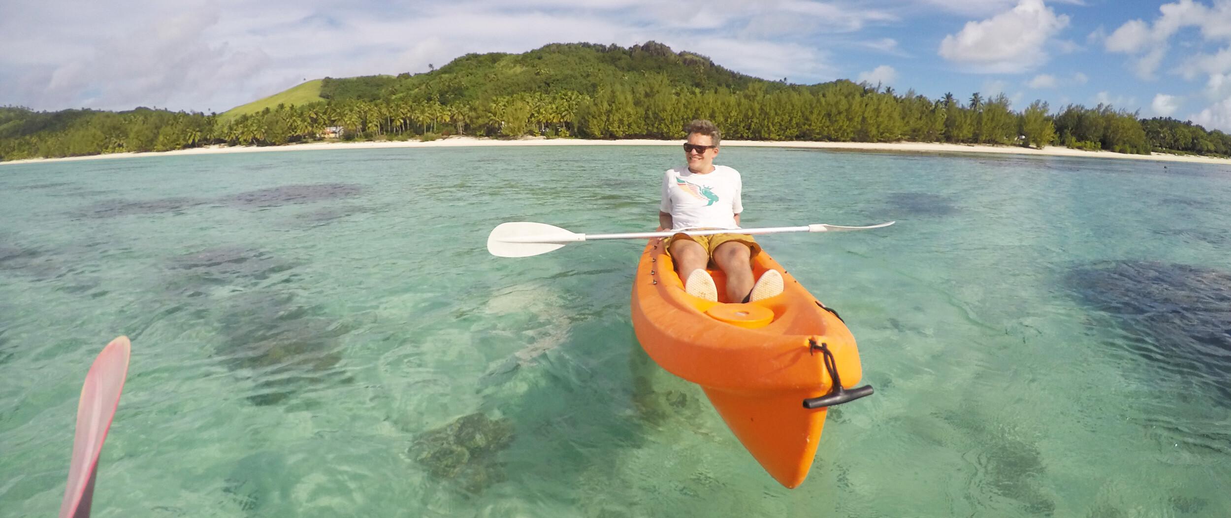 Cook Inseln Reisebericht - Kajaktour auf Aitutaki