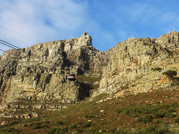 Reisebericht Südafrika: Gondel-Auffahrt zum Tafelberg