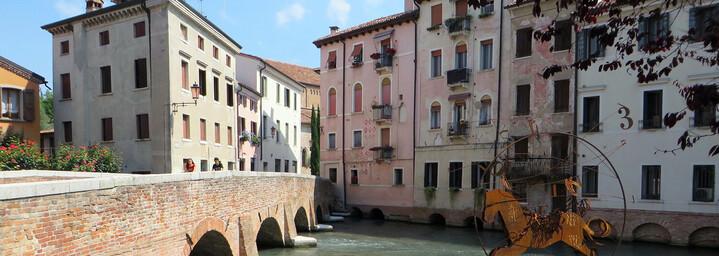 Stadt Treviso in der Region Venetien