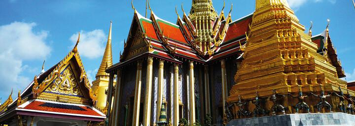 Außenansicht Wat Phra Kaeo Grand Palace Bangkok