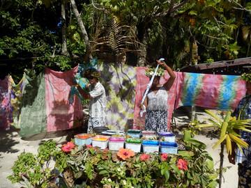 Reisebericht Südsee: Pareos Färben & Binden auf Bora Bora