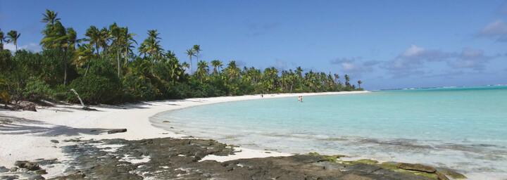 Strand auf One Foot Island