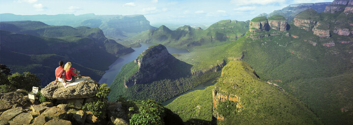 Paar am Blyde River Canyon in Südafrka