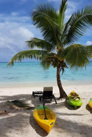 Cook Inseln Reisebericht - Strand auf Aitutaki