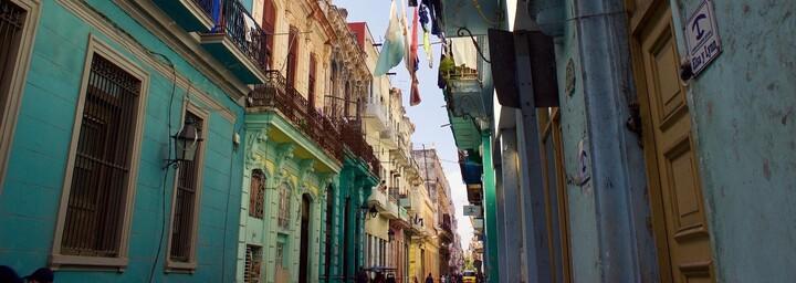 Havanna in Kuba bunte Häuser