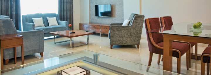 Millennium Executive Apartments Muscat Wohnzimmer