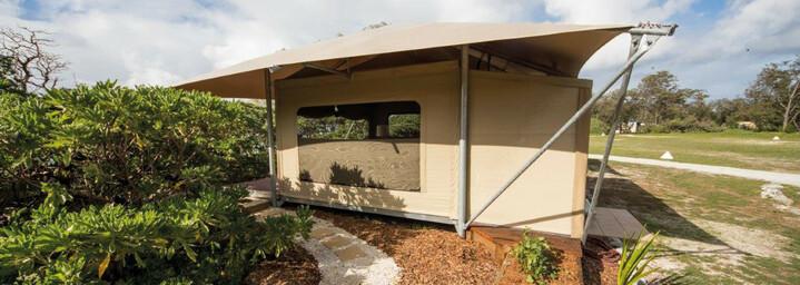 Lady Elliot Island Eco Resort Beispiel Glamping-Zelt Außenansicht
