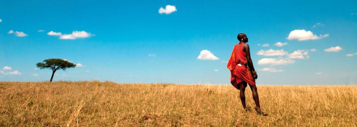 Landschaft mit Masai