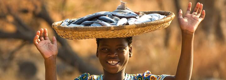 Frau in Malawi