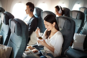 Economy Class der Cathay Pacific