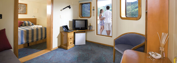 "Beispiel Tabua Suite - Kreuzfahrtschiff ""MV Reef Endeavour"" Captain Cook Cruises"