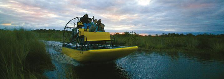 Airboat Tour durch das Sumpfgebiet der Everglades
