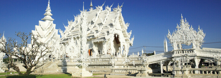 Weißer Tempel in Chiang Rai