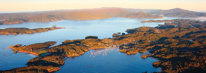 Luftansicht von Stewart Island