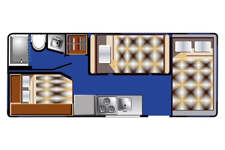 Floorplan bei Nacht des C 21 - 23 ft
