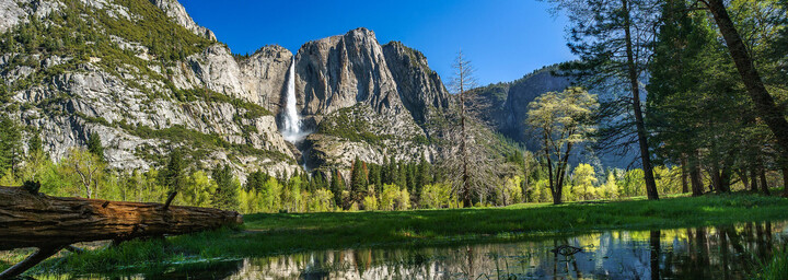 Yosemite Nationalpark mit Wasserfall