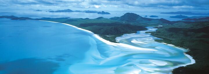 Luftbild von den Whitsunday Islands