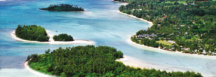 Pacific Resort Rarotonga - Luftaufnahme der Muri-Lagune