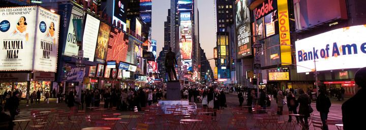 Times Square bei Nacht New York