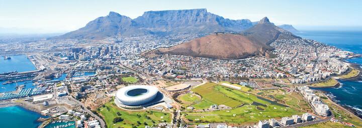 Blick auf Kapstadt und das Stadion