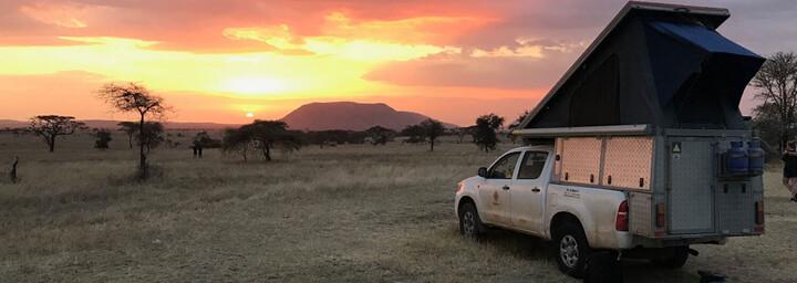 Bushlore Camper Sonnenuntergang