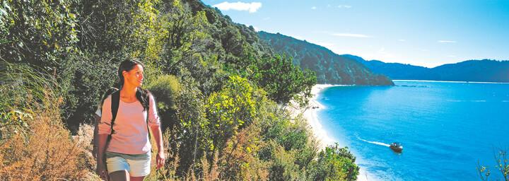 Küstenwanderung im Abel-Tasman-Nationalpark