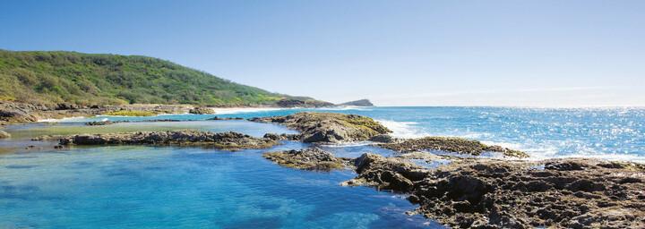 Champagne Rock Pools Fraser Island Queensland
