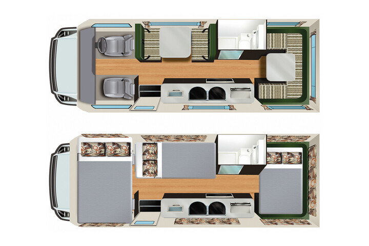 Floorplan des Hercules RV