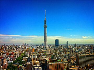 Blick auf Tokyo Skytree