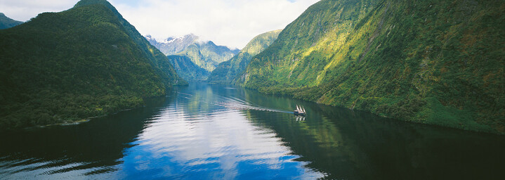 "Kreuzfahrtschiff ""Fiordland Navigator"" im Doubtful Sound"