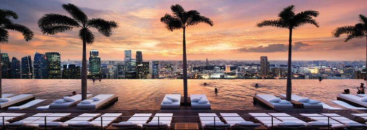 SkyPark des Marina Bay Sands in Singapur