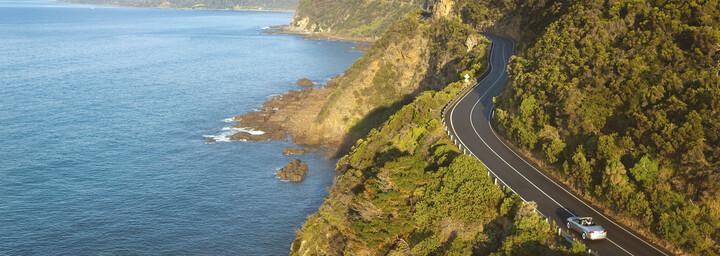 Auto auf der Great Ocean Road