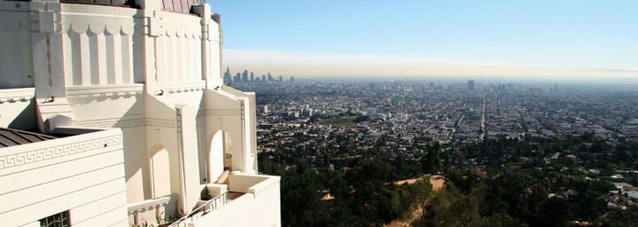 Aussicht über Los Angeles vom Griffith Observatory