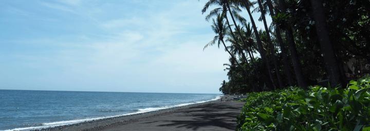 Schwarzer Sandstrand - Nordküste Balis - Bali Reisebericht