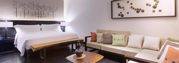 Luxury-Gartenterrassen-Zimmerbeispiel des The Andaman - A luxury Collection Resort auf Langkawi